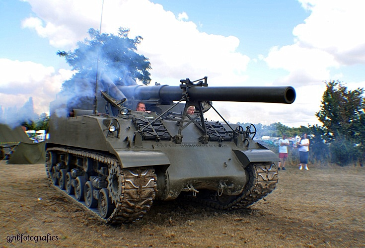 M 40. 155mm Gun Motor Carriage.