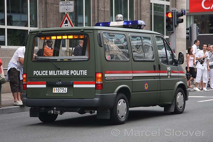Military police Ford Transit