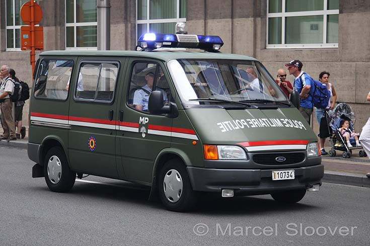 Military Vehicle Photos - Ford Transit Military police Belgium