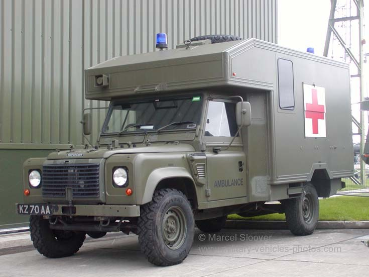 LandRover ambulance Leuchars Scotland
