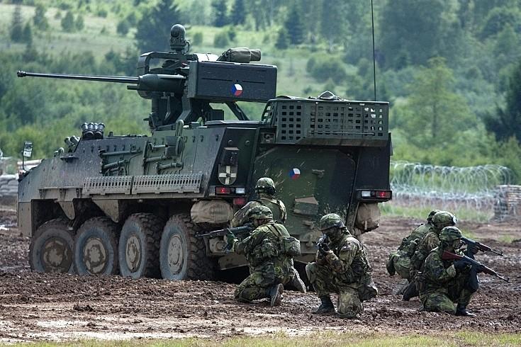 Pandur II 8x8 in action