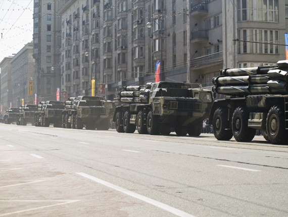 MAZ-79111, BM 9A52-2 launch vehicle convoy