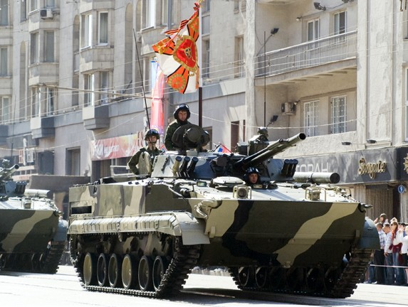«BMP-3 at march»