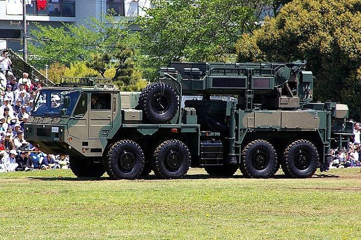 Type 03 Chu-SAM radar unit in Japan