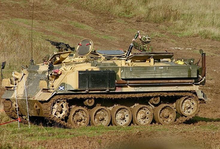 FV432 (Mortar) firing