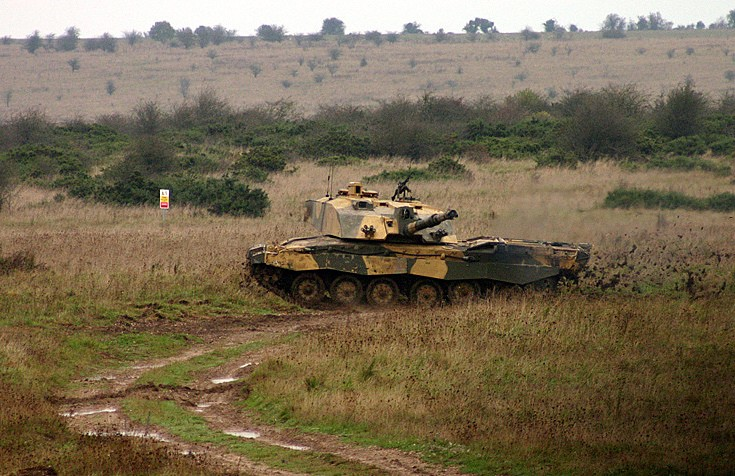 Challenger 2 Salisbury Plain Training Area.