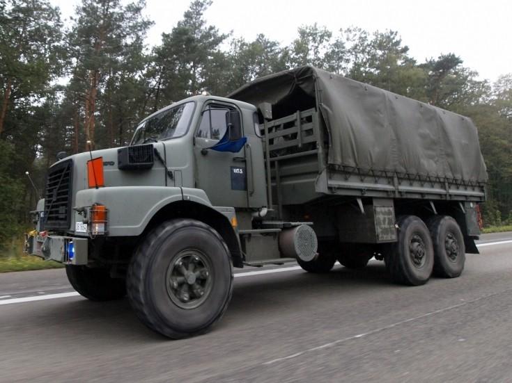 German Volvo army truck