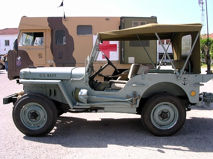 Side view of US Navy Jeep Willys