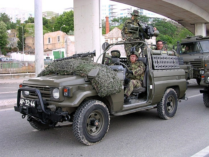 Toyota with anti tank missile