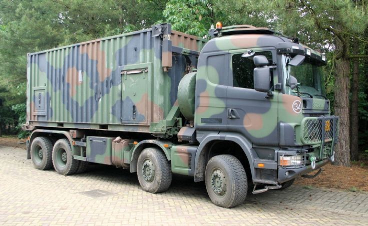 Scania P124 CB 420 wls, Royal Dutch Army