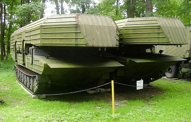 GSP-55 Russian floating bridge pontoons