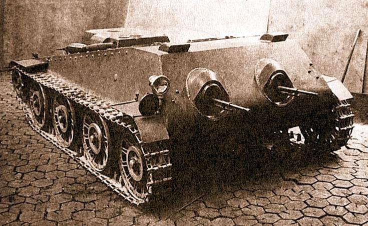 Soviet experimental tankette PPG