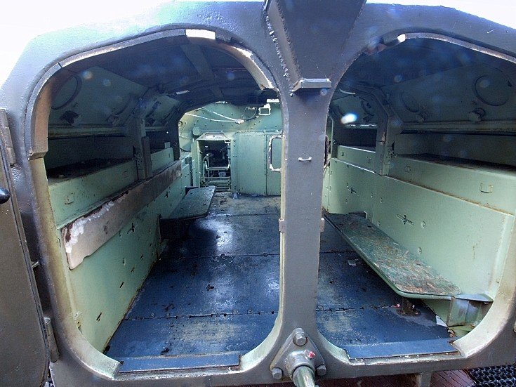AMX 13 passenger compartment