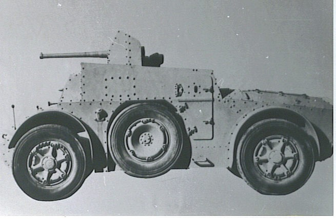 Autoblinda AB 41 armored car with 47mm L/32 AT gun