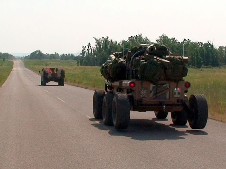 XM1219 Mule on the road