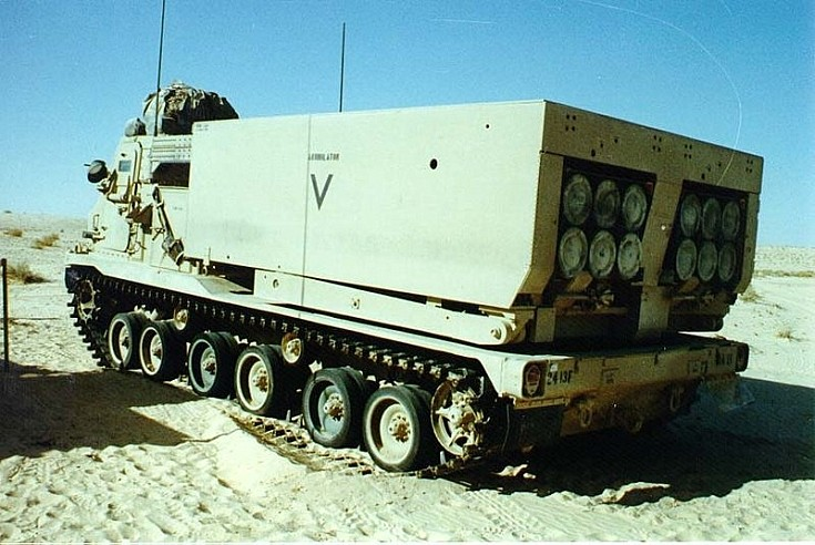 tracked M-270 MLRS