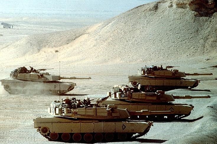 M-1 Abrams tanks