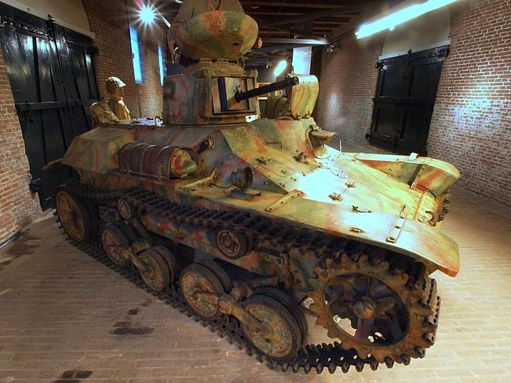Japanese tank on display