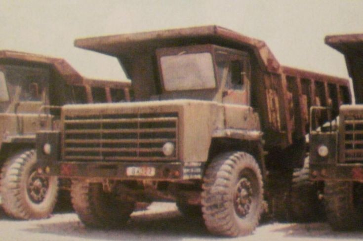 Old Damper 35t trucks out of service
