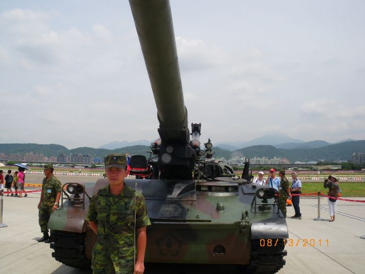 Taiwanese M110 howitzer frontside view ~~