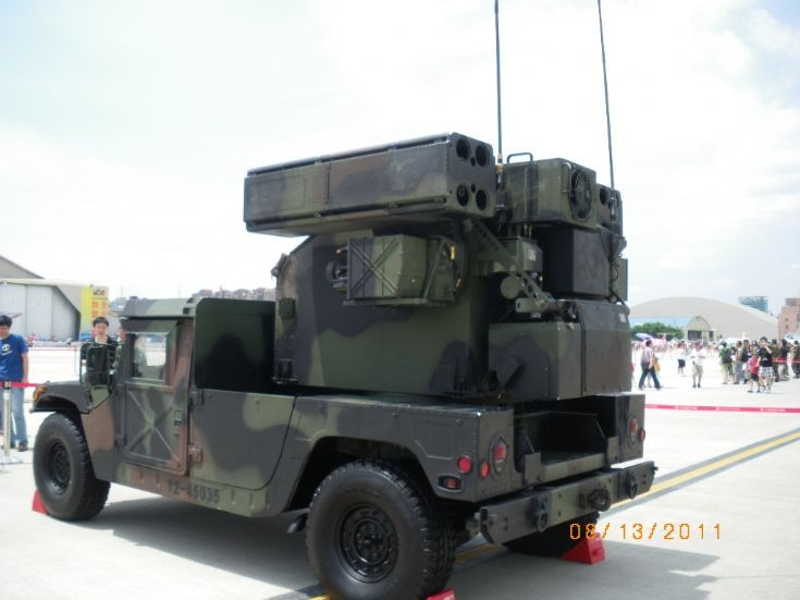 Taiwanese Avenger missile system backside view ~~
