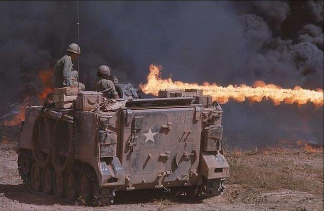 M132 Flame Thrower in Vietnam