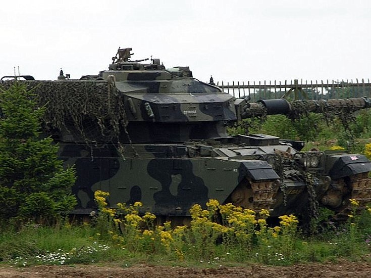 British battle tank