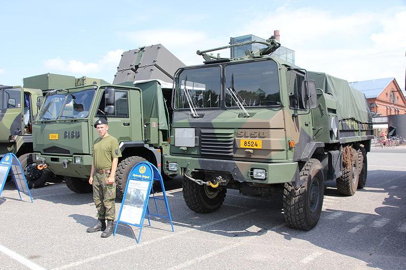 Sisu military trucks