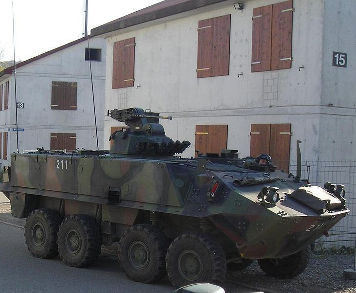 MOWAG Piranha in Switzerland