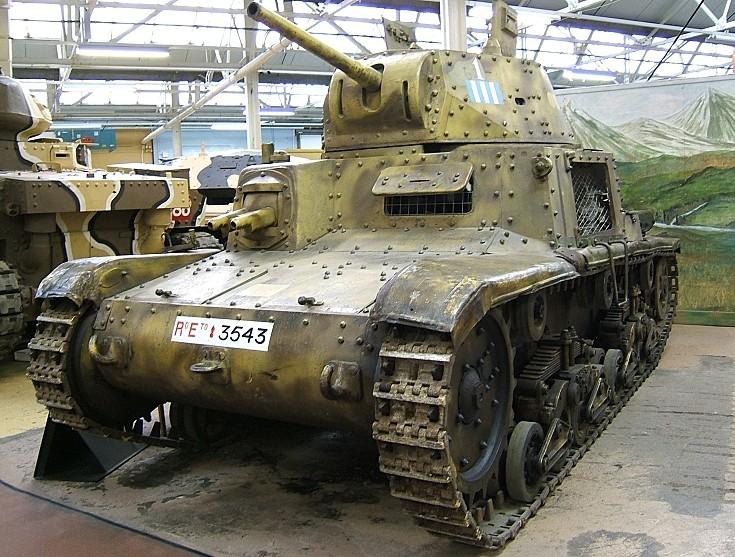 Italian Fiat M13/40 light tank