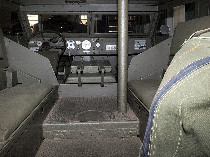 M3A1 rear towards cabin view