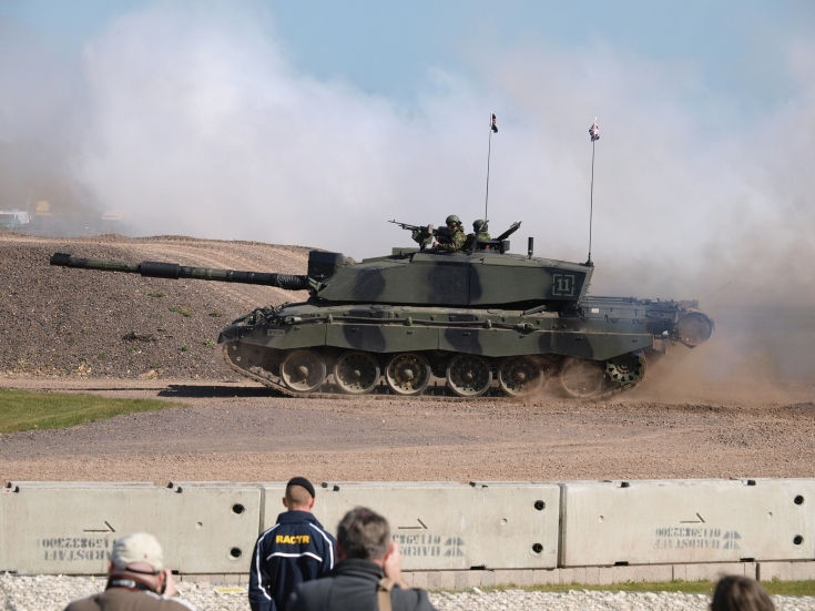 Challenger 2 in action