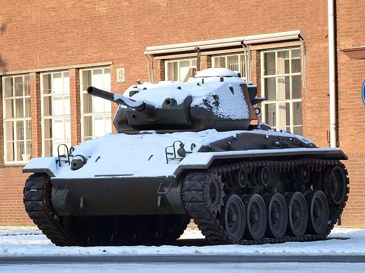 M24 Chaffee on display at museum