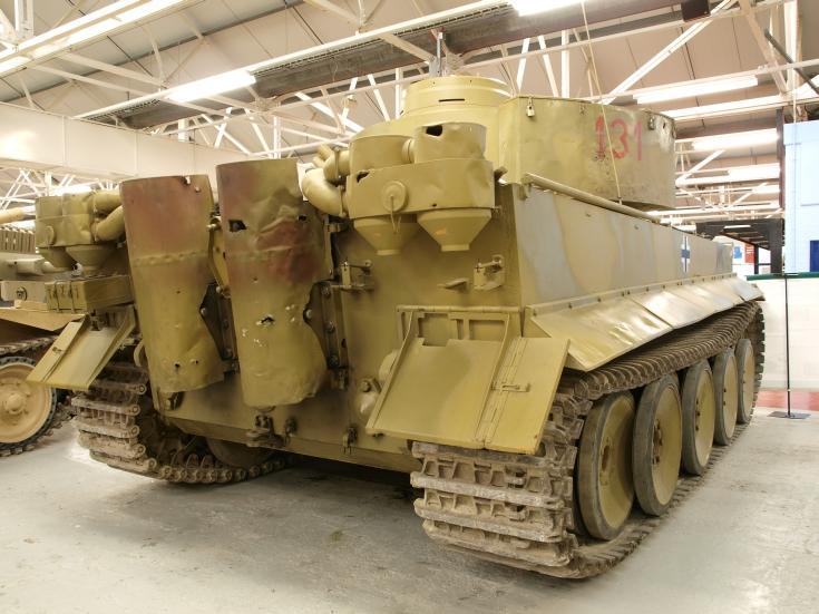 Rear of a Tiger 131 tank