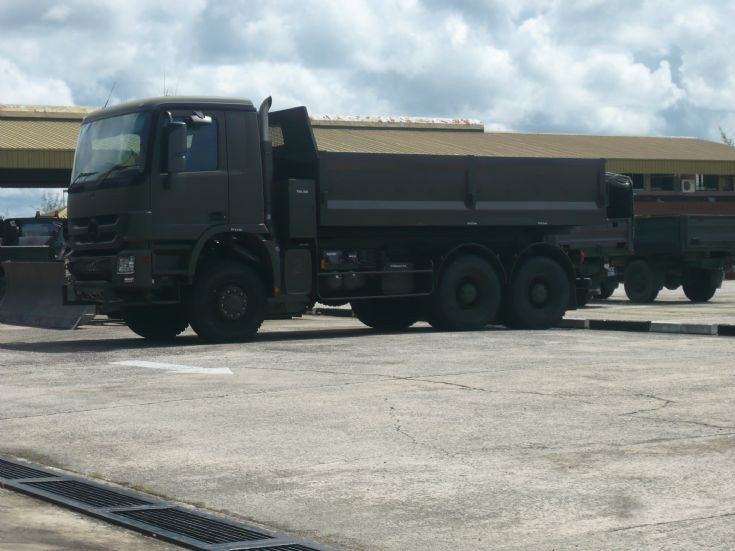 New RBAF Mercedes Actros dump truck