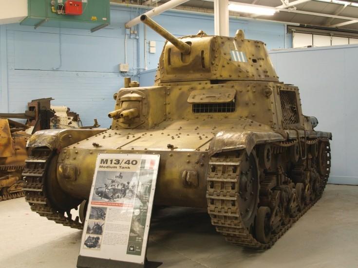 Italian Fiat M13/40 light tank at Bovington
