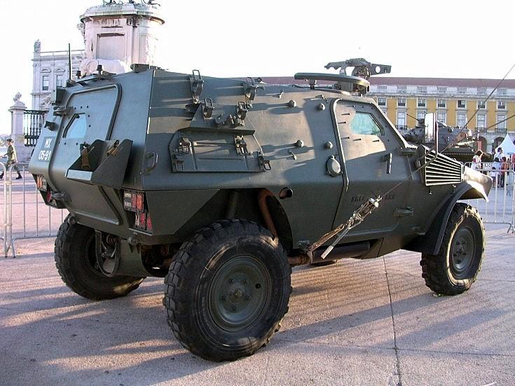 Portuguese Panhard VBL on display