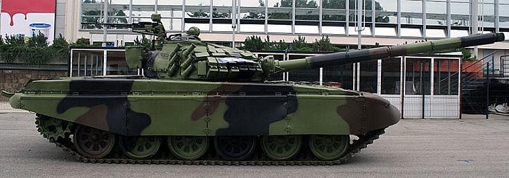 Serbian T-72 main battle tank
