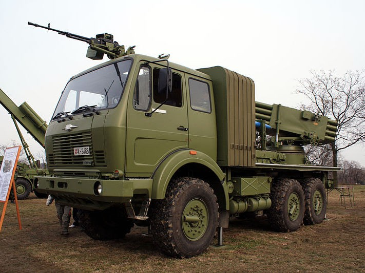 M77 Oganj 128mm MLRS