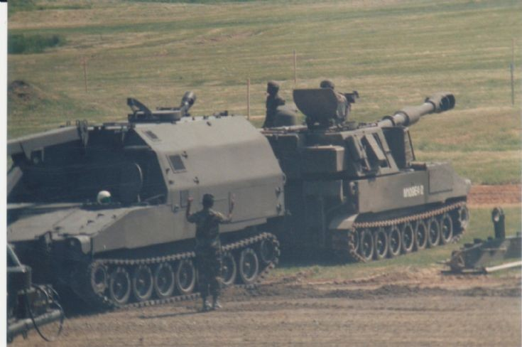 M992 FAASV loading M109E4-2 155mm SPG