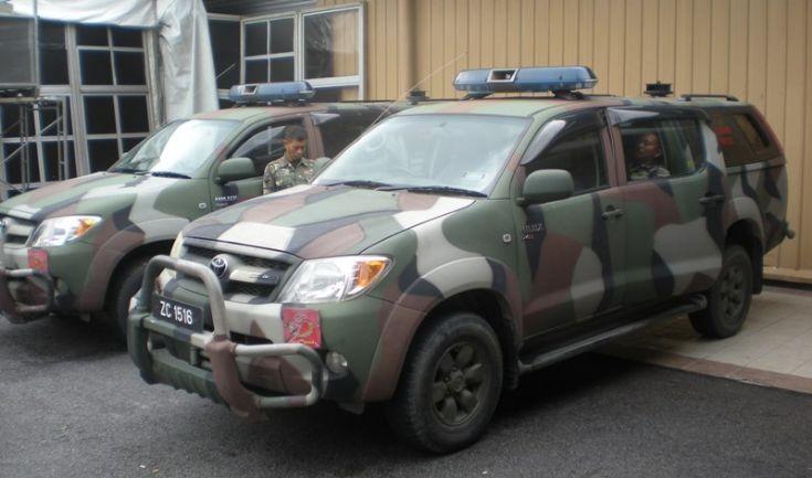 Malaysian Army Toyota Hilux K9