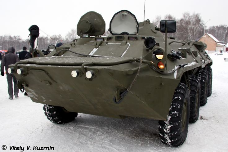BTR-80 from ODON in snow