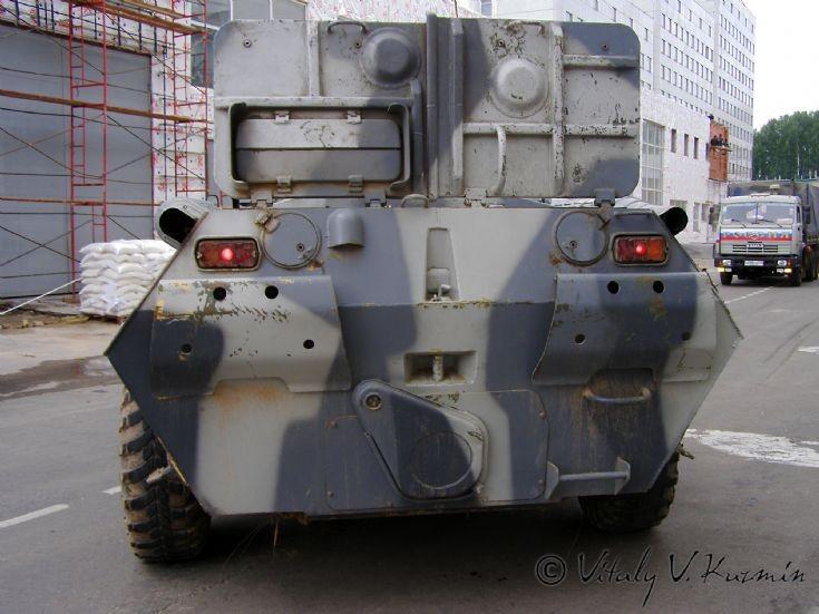 Rear of Moscow OMON BTR-80