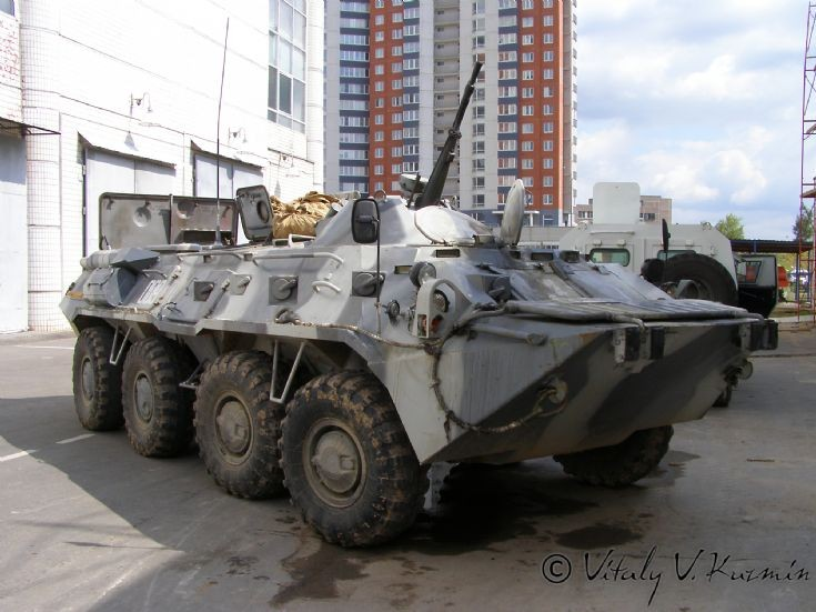 Moscow OMON BTR-80 Armored Personnel Vehicle