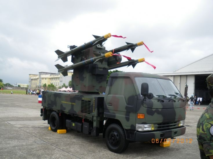 Taiwanese chaparral missile vehicle