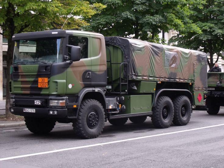 Scania military tanker.