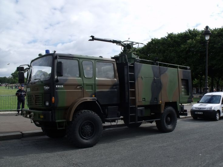 French military firemen Renault truck.