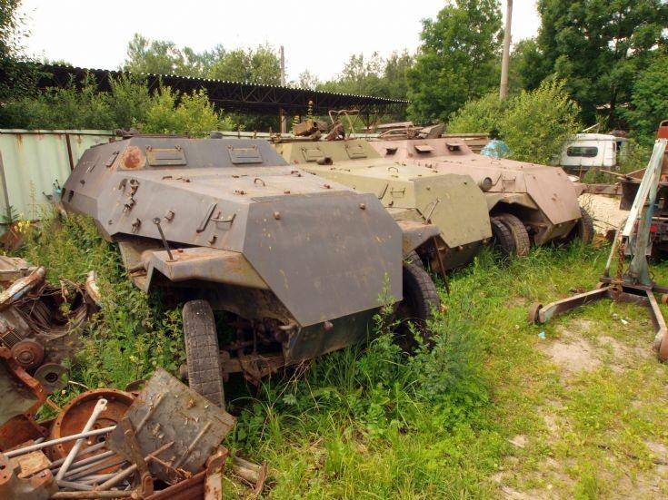 3 waiting to be restored SdKfz 251 (Tatra OT-810)