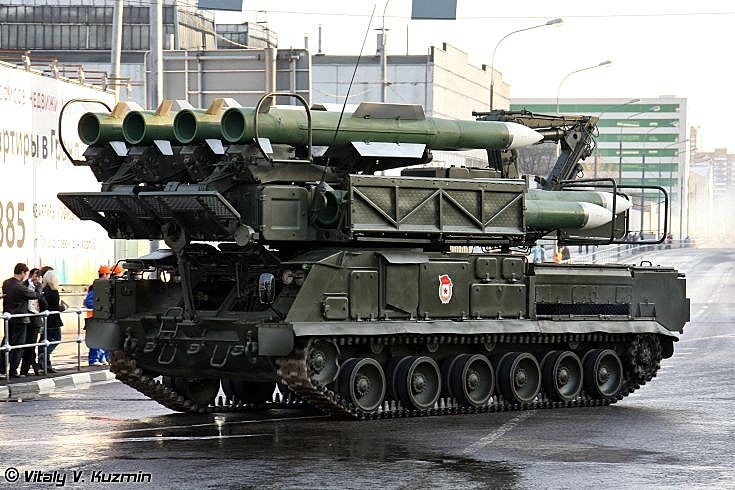 9A39M1 launcher-loader vehicle for Buk-M1-2