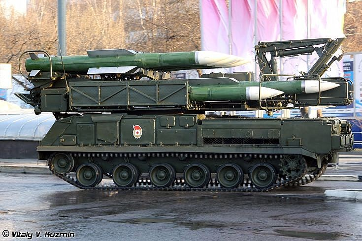 9A39M1 launcher-loader vehicle for Buk-M1-2